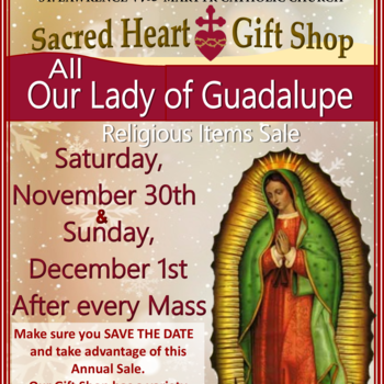 The Sacred Heart Gift Shop, Our Lady of Guadalupe Sale