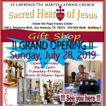 Sacred Heart of Jesus Gift Shop Grand Opening
