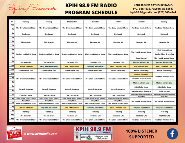 KPIH Program Schedule Spring Summer 2021