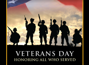 Veterans' Breakfast Saturday, November 9th