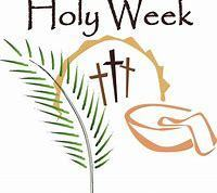 Holy Week Liturgy Schedule