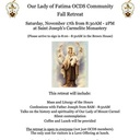 Our Lady of Fatima OCDS Community's Fall Retreat is November 17th!