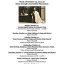 Monastery Schedule for the Week of October 13