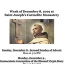 Monastery Schedule for the Week of December 8, 2019