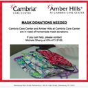 Homemade Mask Donations Needed