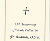 New Notes Added Regarding Fr. Ananias' Ordination Anniversary