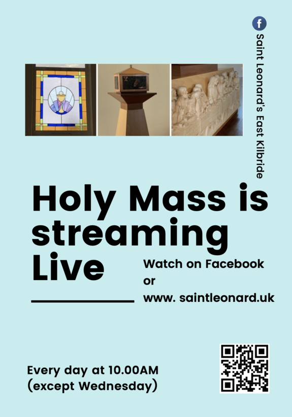 HOLY MASS NOW STREAMING LIVE