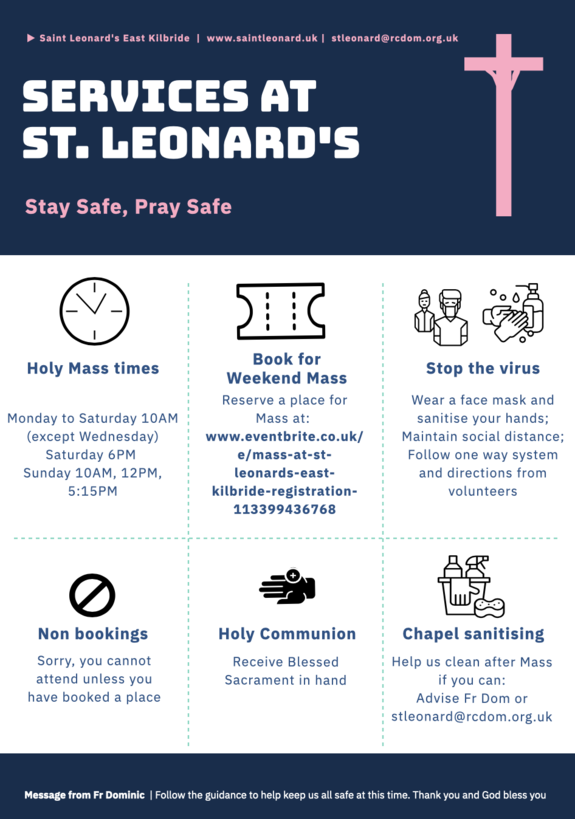 INFORMATION ON HOLY MASS SERVICES IN PHASE 3