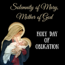 10:00 am Holy Day Mass for Mary, Mother of God, Church