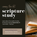 August 23: Join Us This Fall for a Scripture Study!