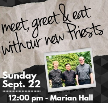 Meet, Greet, & Eat: A Potluck Celebration to Welcome our New Clergy