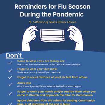 November 22: Some reminders during this time of pandemic AND flu season