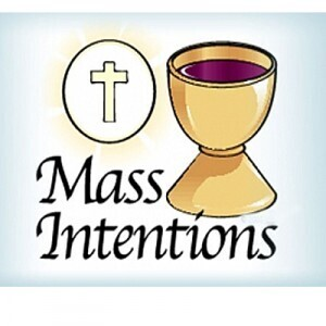January 3: Mass Intentions for January 2-10, 2021
