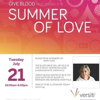 July 14: Versiti Blood Drive Next Tuesday