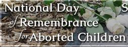 Memorial Service for National Day of Remembrance for Aborted Children