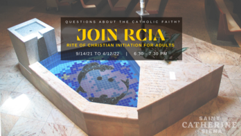 6:30 pm RCIA Class with Father Mark, Location TBD