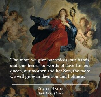 August 16: A Quote from Scot Hahn on the Blessed Virgin Mary