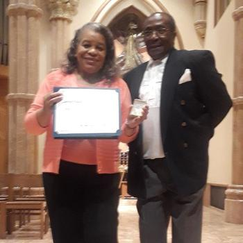Archdiocese presents award to Jerrilyn Young