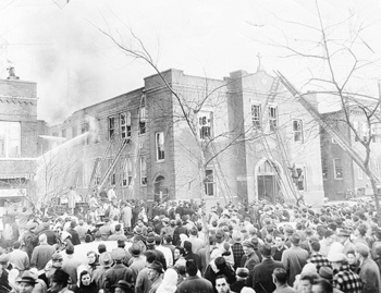 Local historian presents program on the Our Lady of Angels fire