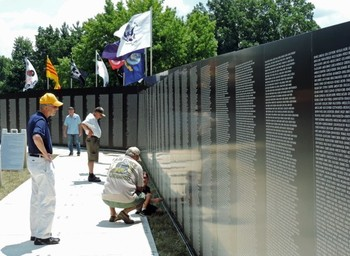 Vietnam Memorial Moving Wall & Museum on display