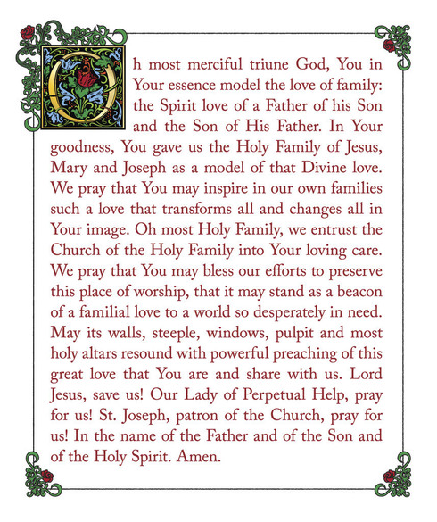 Prayer forChurch of the Holy Family