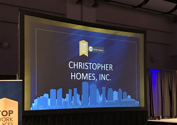 Christopher Homes Attended Top Workplaces Breakfast