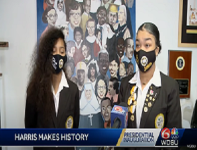 Prep Students Interviewed By WDSU To Reflect On Vice President Harris' Inauguration