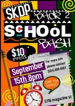 SKDP BACK 2 SCHOOL BASH(DANCE) INFORMATION FLYER