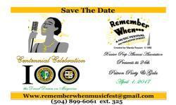 "SAVE THE DATE APRIL 1, 2017 ""REMEMBER WHEN 2017"""