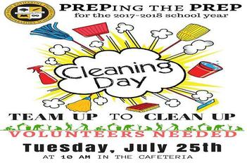 """Prepping The Prep"" Clean Up Day Tuesday July 25th."