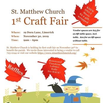 1st St. Matthew Church Craft Fair