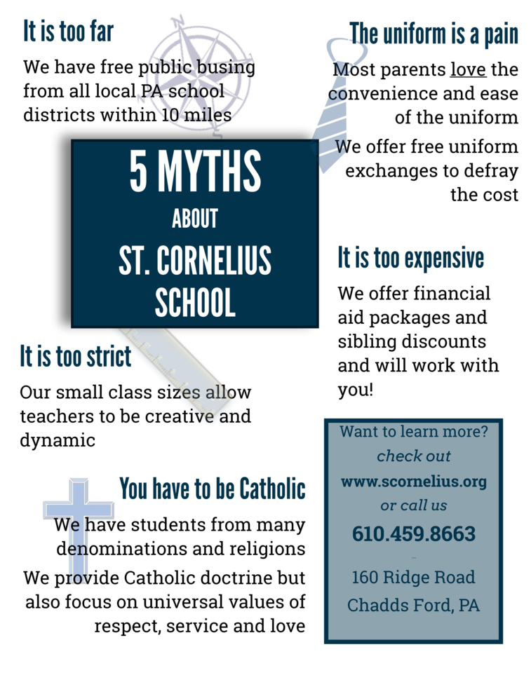 5 Myths About St. Cornelius School
