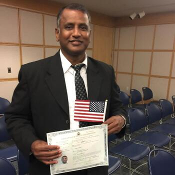 Father Joseph Gains USA Citizenship!