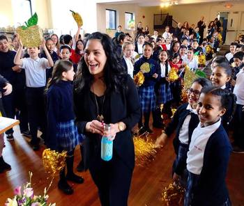 Sacred Heart teacher helps connect faith to everyday lives of young students