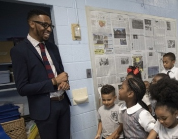 For St. Thomas More principal, college and heaven are goals for his young scholars