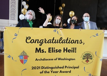 Sacred Heart School's Elise Heil named Principal of the Year for Archdiocese of Washington
