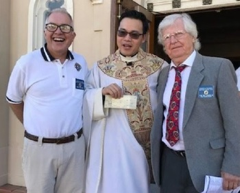 Knights of Columbus council presents check to St. Catherine Parish