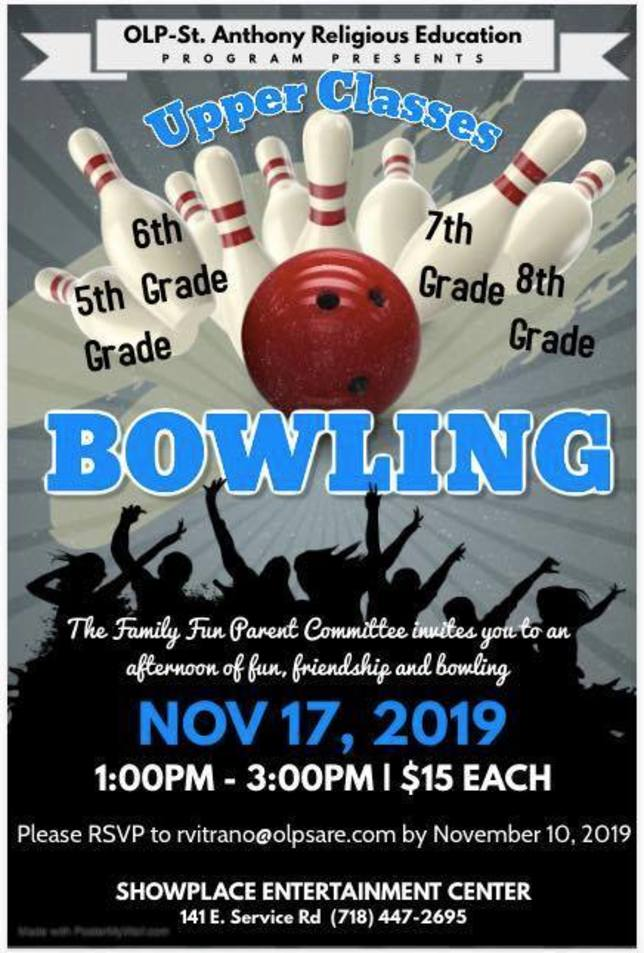 Upper Classes Bowling Event