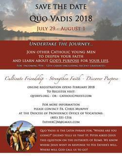 Quo Vadis 2018 Registration Open