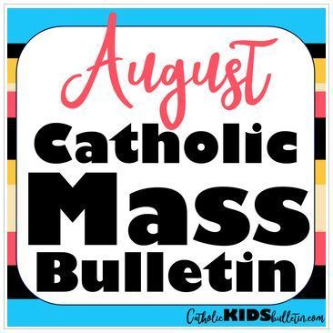photo about Free Printable Children's Church Bulletins named Announcements for Young children - St. Mary of the Assumption Catholic