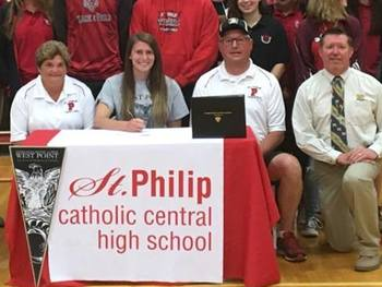 St. Philip Senior Signs to Compete at West Pointe