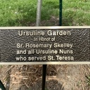 Student Council Honors Ursuline Sisters by Garden Dedication