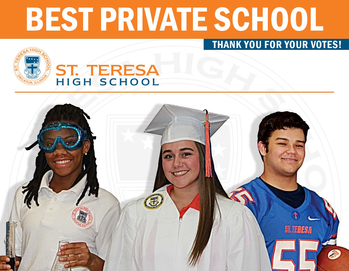 "Vote St. Teresa: Readers' Choice ""Best Private School"""