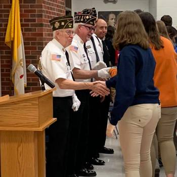 St. Teresa Honors Veterans During Assembly