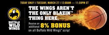 SCRIP March Madness is at BWW! - Today Only!