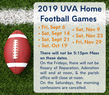 UVA Home Football Game: Schedule Change!