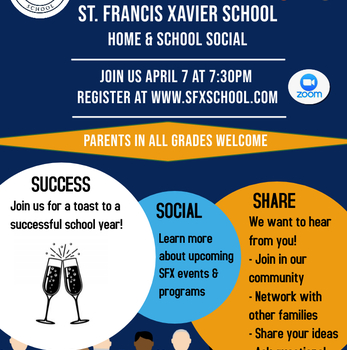Join Us: Home & School Social-April 7th