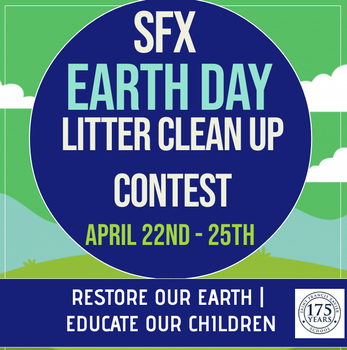 SFX EARTH DAY LITTER CLEAN UP CONTEST