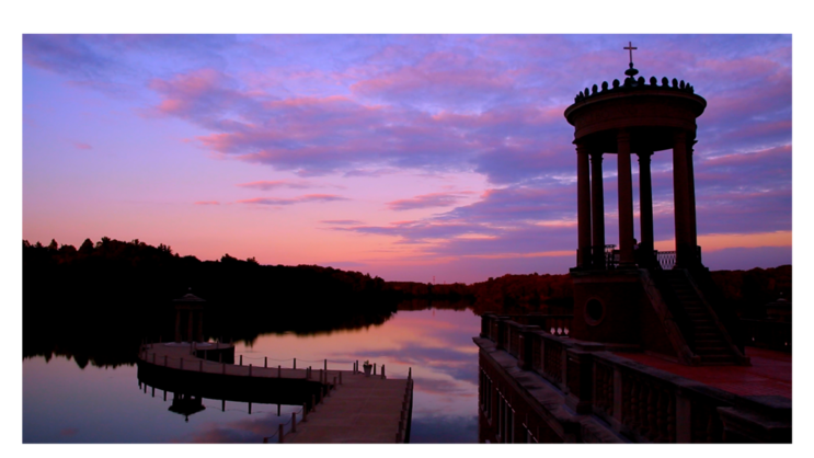 Pictured Below: Breathtaking sunset over the lake at the University of St. Mary of the Lake Seminary