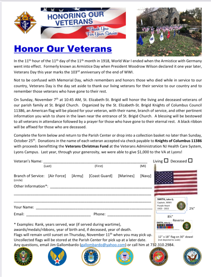 Honor our Veterans 2021